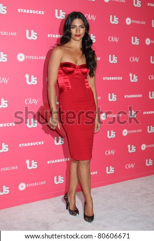 LOS ANGELES - APR 26: Camila Alves arriving at the 2011 US Weekly Hot Hollywood Style Event at Eden in Los Angeles, California on April 26, 2011 - stock photo