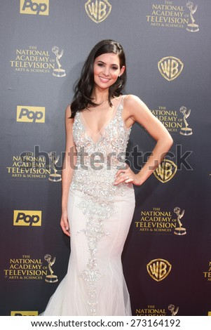 LOS ANGELES - APR 26:  Camila Banus at the 2015 Daytime Emmy Awards at the Warner Brothers Studio Lot on April 26, 2015 in Burbank, CA - stock photo