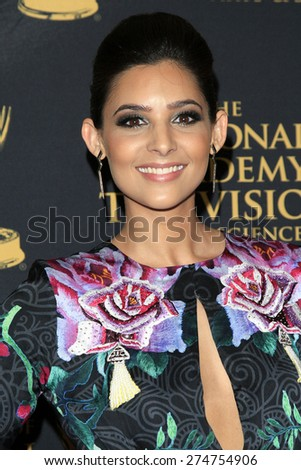 LOS ANGELES - APR 24: Camila Banus at The 42nd Daytime Creative Arts Emmy Awards Gala at the Universal Hilton Hotel on April 24, 2015 in Los Angeles, California - stock photo
