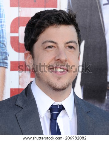 "LOS ANGELES - APR 13:  Christopher Mintz-Plasse arrives to the ""Neighbors"" World Premiere  on April 28, 2014 in Westwood, CA.                 - stock photo"