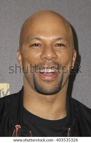 LOS ANGELES - APR 9:  Common at the 2016 MTV Movie Awards Arrivals at the Warner Brothers Studio on April 9, 2016 in Burbank, CA