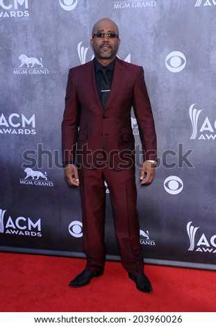 LOS ANGELES - APR 06:  Darius Rucker arrives to the 49th Annual Academy of Country Music Awards   on April 06, 2014 in Las Vegas, NV.                 - stock photo