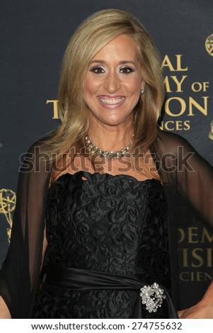 LOS ANGELES - APR 24: Dawn Stroupe at The 42nd Daytime Creative Arts Emmy Awards Gala at the Universal Hilton Hotel on April 24, 2015 in Los Angeles, California - stock photo