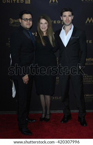 LOS ANGELES - APR 29: Gregory J Martin, Wendy Riche, Kristos Andrews at The 43rd Daytime Creative Arts Emmy Awards at the Westin Bonaventure Hotel on April 29, 2016 in Los Angeles, CA - stock photo