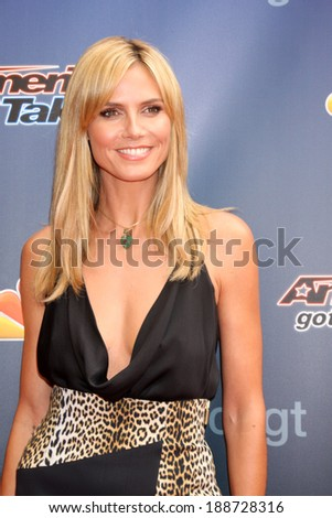 """LOS ANGELES - APR 22:  Heidi Klum at the """"America's Got Talent"""" Los Angeles Auditions Arrivals at Dolby Theater on April 22, 2014 in Los Angeles, CA - stock photo"""