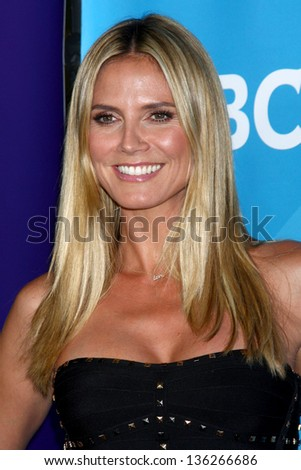 LOS ANGELES - APR 22:  Heidi Klum at the NBCUniversal Summer Pres Day 2013 at the Huntington Langham Hotel on April 22, 2013 in Pasadena, CA - stock photo
