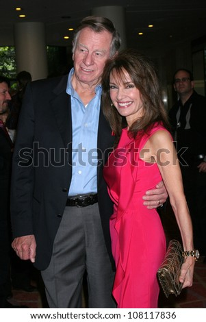 "LOS ANGELES - APR 9:  Helmut Huber, Susan Lucci in the green room of ""Actors and Others for Animals"" Annual Fundraiser 2011 at Universal Hilton Hotel on April 9, 2011 in Los Angeles, CA"