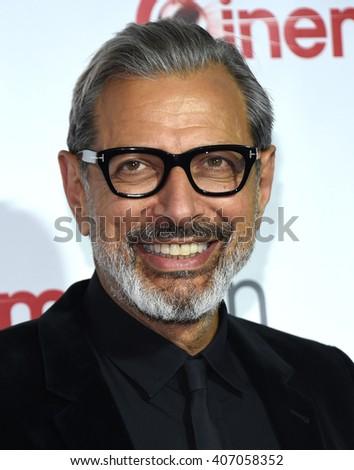 LOS ANGELES - APR 14:  Jeff Goldblum arrives to the Cinema Con 2016: Awards Gala  on April 14, 2016 in Las Vegas, NV.                 - stock photo