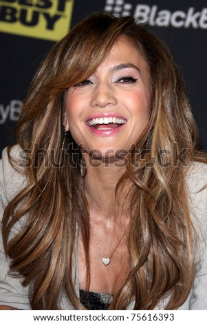 """LOS ANGELES - APR 19:  Jennifer Lopez at the launch of the BlackBerrry PlayBook and her new album, """"LOVE?"""" at Best Buy on April 19, 2011 in Los Angeles, CA - stock photo"""