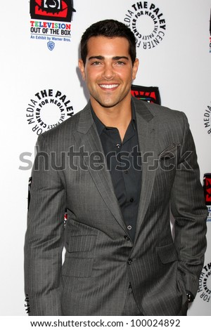 "LOS ANGELES - APR 12:  Jesse Metcalfe arrives at Warner Brothers ""Television: Out of the Box"" Exhibit Launch at Paley Center for Media on April 12, 2012 in Beverly Hills, CA - stock photo"