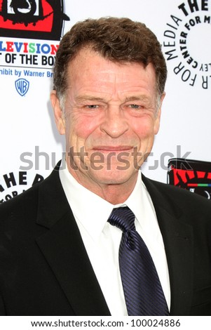 "LOS ANGELES - APR 12:  John Noble arrives at Warner Brothers ""Television: Out of the Box"" Exhibit Launch at Paley Center for Media on April 12, 2012 in Beverly Hills, CA - stock photo"