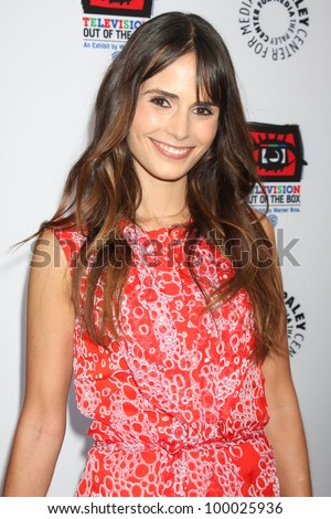 "LOS ANGELES - APR 12:  Jordana Brewster arrives at Warner Brothers ""Television: Out of the Box"" Exhibit Launch at Paley Center for Media on April 12, 2012 in Beverly Hills, CA - stock photo"
