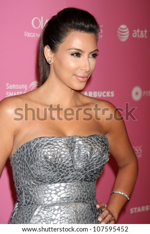 LOS ANGELES - APR 18:  Kim Kardashian arrives at the 2012 US Hot Hollywood Party  at Greystone Manor on April 18, 2012 in Los Angeles, CA - stock photo