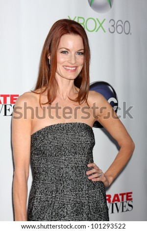 "LOS ANGELES - APR 29:  Laura Leighton arrives at the ""Desperate Housewives"" Wrap Party at W Hollywood Hotel on April 29, 2012 in Los Angeles, CA"
