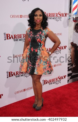 LOS ANGELES - APR 6:  Lauren Lake at the Barbershop - The Next Cut Premiere at the TCL Chinese Theater on April 6, 2016 in Los Angeles, CA