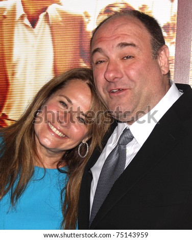 "LOS ANGELES - APR 11:  Lorraine Bracco & James Gandolfini arrives to ""Cinema Verite"" Los Angeles Premiere on April 11, 2011 in Hollywood, CA"