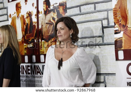 LOS ANGELES - APR 11:  Marcia Gay Harden arriving at the LA premiere of HBO Films 'Cinema Verite' at Paramount Studios in Los Angeles, California on April 11, 2011.