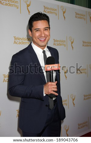 "LOS ANGELES - APR 9:  Mario Lopez at the An Evening with ""America's Funniest Home Videos"" at Academy of Television Arts and Sciences on April 9, 2014 in North Hollywood, CA - stock photo"