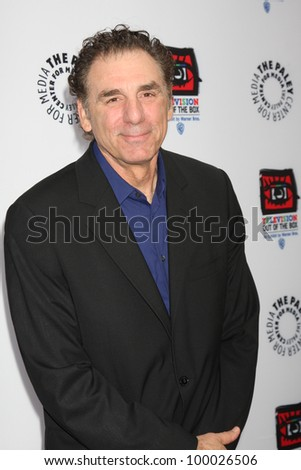"LOS ANGELES - APR 12:  Michael Richards arrives at Warner Brothers ""Television: Out of the Box"" Exhibit Launch at Paley Center for Media on April 12, 2012 in Beverly Hills, CA - stock photo"