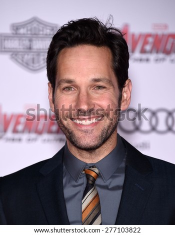 "LOS ANGELES - APR 14:  Paul Rudd arrives to the Marvel's ""Avengers: Age of Ultron"" World Premiere  on April 14, 2015 in Hollywood, CA                 - stock photo"