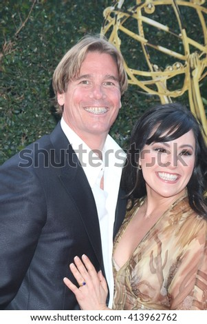 LOS ANGELES - APR 29:  Thomas McDonald, Rachel McDonald at the 43rd Daytime Emmy Creative Awards Arrivals at the Westin Bonaventure Hotel  on April 29, 2016 in Los Angeles, CA - stock photo