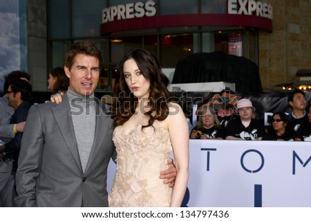 "LOS ANGELES - APR 10:  Tom Cruise, Andrea Riseborough arrives at the ""Oblivion"" Premiere at the Dolby Theater on April 10, 2013 in Los Angeles, CA - stock photo"