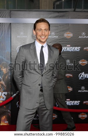 "LOS ANGELES - APR 11:  Tom Hiddleston arrives at ""The Avengers"" Premiere at El Capitan Theater on April 11, 2012 in Los Angeles, CA"