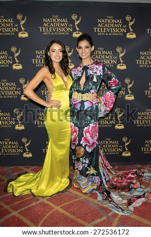 LOS ANGELES - APR 24: Vannessa Vasquez, Camila Banus at The 42nd Daytime Creative Arts Emmy Awards Gala at the Universal Hilton Hotel on April 24, 2015 in Los Angeles, California - stock photo