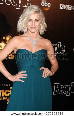 "LOS ANGELES - April 21:  Julianne Hough at the ""Dancing With the Stars"" 10 Year Anniversary Party at the Greystone Manor on April 21, 2015 in West Hollywood, CA - stock photo"