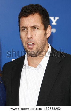 LOS ANGELES - AUG 6: Adam Sandler at the World premiere of 'Jack And Jill' at Village Theater in Westwood, California on August 6, 2011 - stock photo