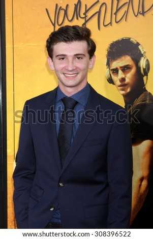 "LOS ANGELES - AUG 20:  Alex Shaffer at the ""We are Your Friends"" Los Angeles Premiere at the TCL Chinese Theater on August 20, 2015 in Los Angeles, CA - stock photo"