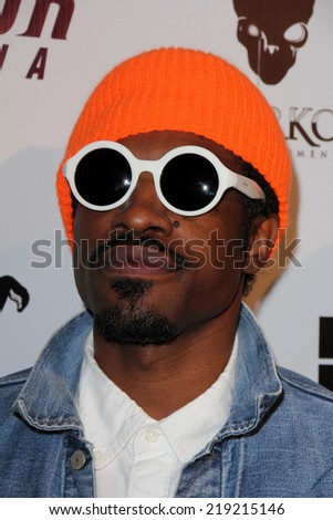 "LOS ANGELES - AUG 22:  Andre 3000, aka Andre Benjamin at the ""Jimi: All Is By My Side"" LA Special Screening at ArcLight Hollywood Theaters on August 22, 2014 in Los Angeles, CA"
