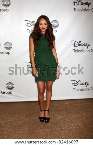 LOS ANGELES - AUG 7:  Ashley Madekwe arriving at the Disney / ABC Television Group 2011 Summer Press Tour Party at Beverly Hilton Hotel on August 7, 2011 in Beverly Hills, CA - stock photo