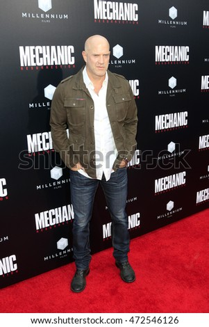 "LOS ANGELES - AUG 22:  Bruno Gunn at the ""Mechanic: Resurrection"" Premiere at the ArcLight Hollywood on August 22, 2016 in Los Angeles, CA"