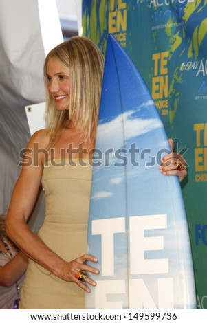LOS ANGELES - AUG 7: Cameron Diaz at the 2011 Teen Choice Awards held at Gibson Amphitheatre on August 7, 2011 in Los Angeles, California - stock photo