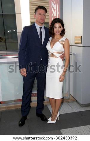 LOS ANGELES - AUG 1:  Channing Tatum, Jenna Dewan-Tatum at the The Dizzy Feet Foundation`s Celebration Of Dance Gala at the Club Nokia on August 1, 2015 in Los Angeles, CA - stock photo