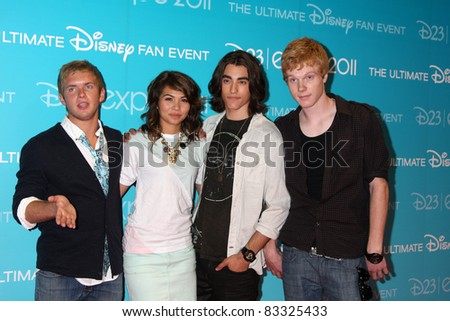 LOS ANGELES - AUG 19:  Chris Brochu, Hayley Kiyoko, Blake Michael, Adam Hicks at the D23 Expo 2011 at the Anaheim Convention Center on August 19, 2011 in Anaheim, CA