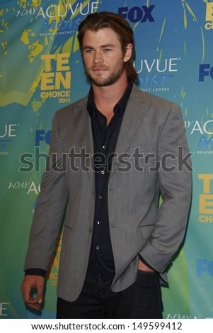 LOS ANGELES - AUG 7: Chris Hemsworth at the 2011 Teen Choice Awards held at Gibson Amphitheatre on August 7, 2011 in Los Angeles, California - stock photo