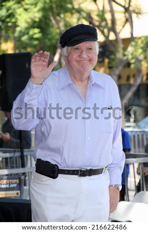 LOS ANGELES - AUG 26:  Chuck McCann at the Phil Hartman Posthumous Star on the Walk of Fame at Hollywood Blvd on August 26, 2014 in Los Angeles, CA - stock photo