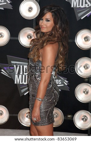 LOS ANGELES - AUG 28:  Demi Lovato arriving at the  2011 MTV Video Music Awards at the LA Live on August 28, 2011 in Los Angeles, CA - stock photo