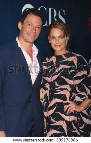 LOS ANGELES - AUG 10:  Dominic West, Ruth Wilson at the CBS TCA Summer 2015 Party at the Pacific Design Center on August 10, 2015 in West Hollywood, CA - stock photo