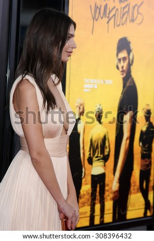 "LOS ANGELES - AUG 20:  Emily Ratajkowski at the ""We are Your Friends"" Los Angeles Premiere at the TCL Chinese Theater on August 20, 2015 in Los Angeles, CA - stock photo"
