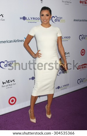 LOS ANGELES - AUG 8:  Eva Longoria at the 17th Annual HollyRod Designcare Gala at the The Lot on August 8, 2015 in West Hollywood, CA - stock photo
