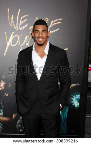 "LOS ANGELES - AUG 20:  Evander Kane at the ""We are Your Friends"" Los Angeles Premiere at the TCL Chinese Theater on August 20, 2015 in Los Angeles, CA - stock photo"