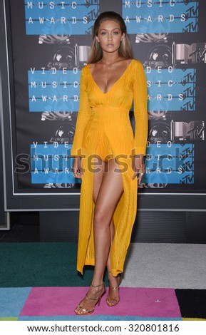 LOS ANGELES - AUG 30:  Gigi Hadid 2015 MTV Video Music Awards - Arrivals  on August 30, 2015 in Hollywood, CA                 - stock photo