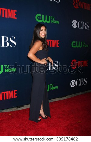 LOS ANGELES - AUG 10:  Gina Rodriguez at the CBS TCA Summer 2015 Party at the Pacific Design Center on August 10, 2015 in West Hollywood, CA - stock photo