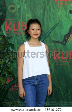 "LOS ANGELES - AUG 14:  Haley Tju at the ""Kubo and the Two Strings"" Premiere at the AMC Universal Citywalk on August 14, 2016 in Universal City, CA"
