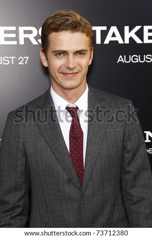 LOS ANGELES - AUG 4:  Hayden Christensen arriving at the premiere of Screen Gems' 'Takers' at the Arclight Cinerama Dome in Los Angeles on August 4, 2010. - stock photo