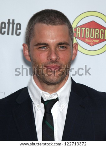 """LOS ANGELES - AUG 23:  James Marsden """"Bachelorette"""" Los Angeles Premiere  on August 23, 2012 in Hollywood, CA - stock photo"""