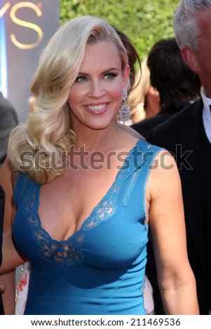 LOS ANGELES - AUG 16:  Jenny McCarthy at the 2014 Creative Emmy Awards - Arrivals at Nokia Theater on August 16, 2014 in Los Angeles, CA - stock photo